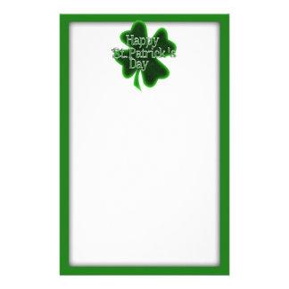 Glückliches Kleeblatt St. Patricks Tages Briefpapier
