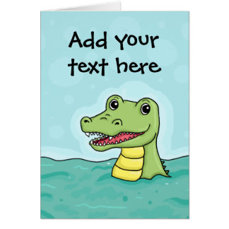 Glückliches Krokodil kundengerecht Karte