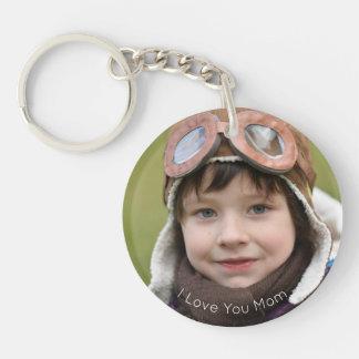 Glückliches kundenspezifisches Foto Keychain der Schlüsselanhänger