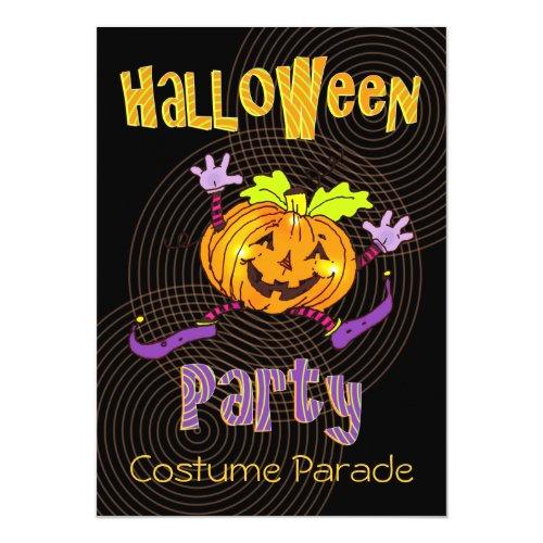 ... Glückliches Kürbis Halloween Kostüm Party Einladung ...