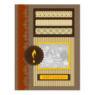 glückliches Kwanzaa (Einklebebuch) Postkarte