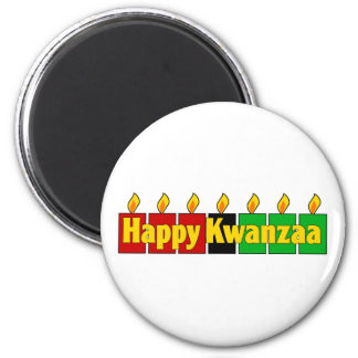 Glückliches Kwanzaa Runder Magnet 5,1 Cm