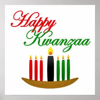Glückliches Kwanzaa Plakatdruck