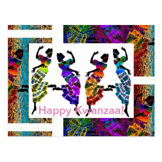 Glückliches Kwanzaa! Postkarte