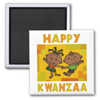 Glückliches Kwanzaa Quadratischer Magnet