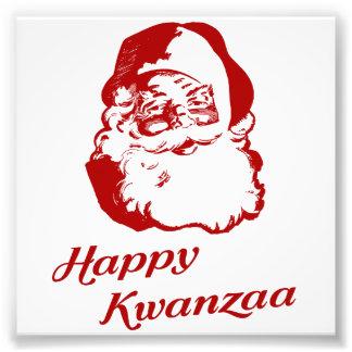Glückliches Kwanzaa-Weihnachten Weihnachtsmann Photographie