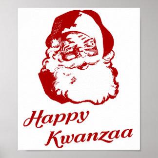 Glückliches Kwanzaa-Weihnachten Weihnachtsmann Posterdrucke