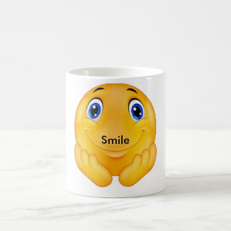 Glückliches Lächeln Kaffeetasse