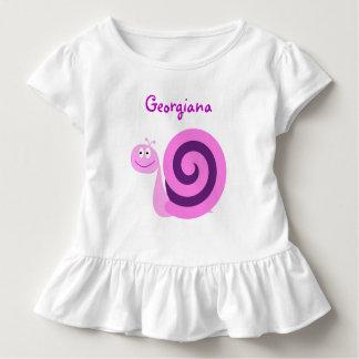 Glückliches lächeln rosa u. lila Schnecke; Kleinkinder T-shirt