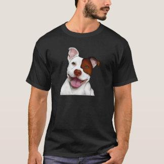 Glückliches lächelndes Pitbull T-Shirt