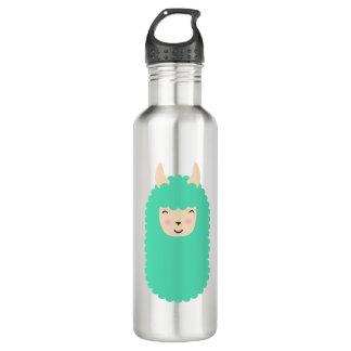 Glückliches Lama Emoji Edelstahlflasche