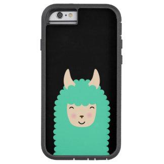 Glückliches Lama Emoji starker iPhone Fall Tough Xtreme iPhone 6 Hülle