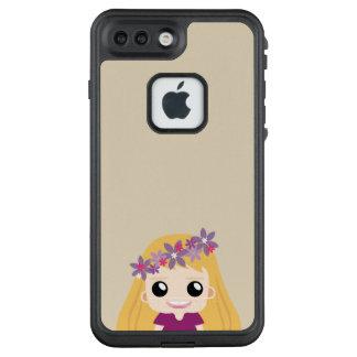 Glückliches Mädchen mit braunem Haarvektor LifeProof FRÄ' iPhone 8 Plus/7 Plus Hülle