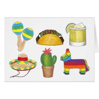 Glückliches mexikanisches Fiesta-Party Cinco Des Karte