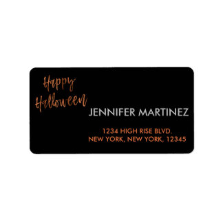 Glückliches modernes Halloween Adressen-Etikett Adressaufkleber