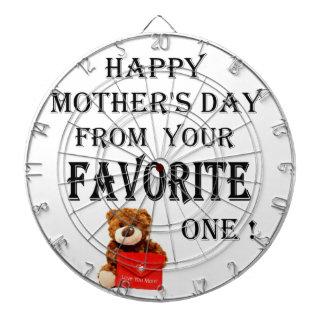 Glückliches Mutter-Tagesgeschenk Dartscheibe