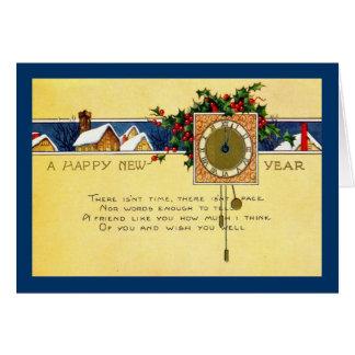 Glückliches neues Jahr 1915 Vintag Karte