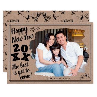 Glückliches neues Jahr addieren einen rauer Karte