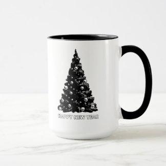 Glückliches neues Jahr-Baum-Tasse Tasse