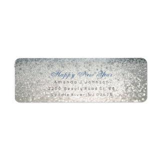 Glückliches neues Jahr-blauer silberner Glitter
