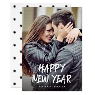 Glückliches neues Jahr-Foto-Feiertag Karte