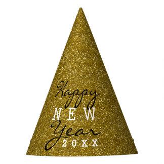 Glückliches neues Jahr-GoldGlitzer Partyhütchen