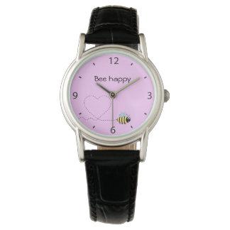 Glückliches niedliches armbanduhr