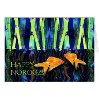 Glückliches Norooz, Goldfisch-Schwimmen Karte