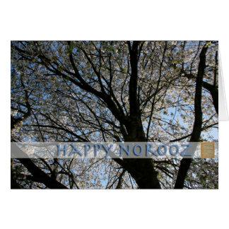 Glückliches Norooz - mit Kirschbaum - Gruß Karte