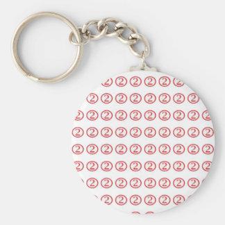 Glückliches Nr. ZWEI cadeau 2 gießen tous: Schlüsselanhänger