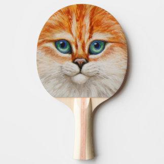 Glückliches orange Miezekatze-Gesicht Tischtennis Schläger