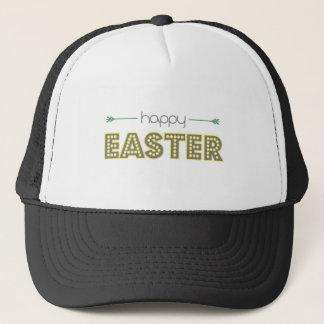 glückliches Ostern-Frühlingsgelb-Minzengrün Truckerkappe