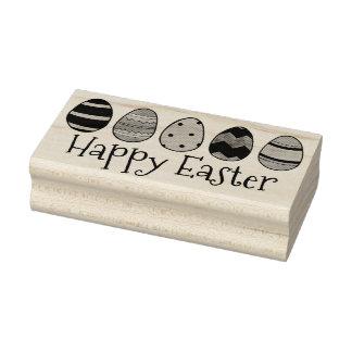 Glückliches Ostern gemaltes Ei Eggs Gummistempel