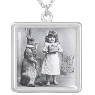 Glückliches Ostern-Großmutter-Geschenk-wertvolles Halskette Mit Quadratischem Anhänger