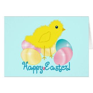 Glückliches Ostern-Küken Karte