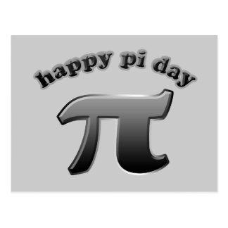 Glückliches PU-Tagespu-Symbol für Mathe-Nerds am Postkarte