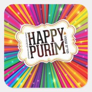 Glückliches Purim Quadratischer Aufkleber