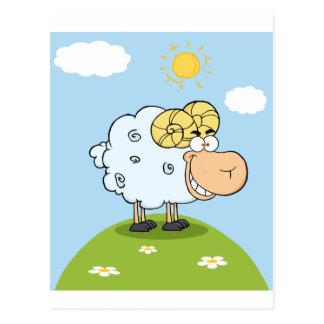 Glückliches RAM-Cartoon-Maskottchen Postkarte