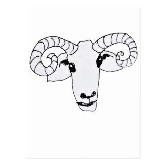 glückliches RAM Postkarte