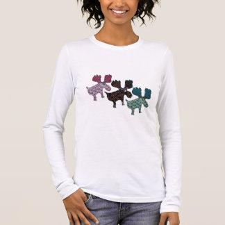 Glückliches Ren Langarm T-Shirt