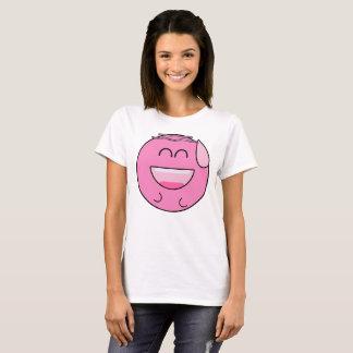 Glückliches rosa Emoji T-Shirt