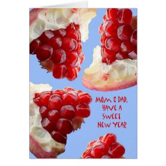 Glückliches Rosh Hashanah für Mamma und Vati, Karte