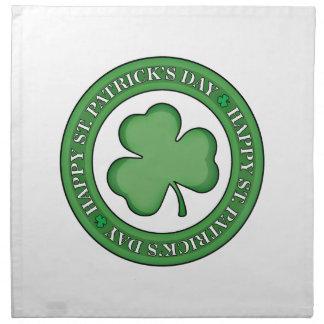Glückliches Schild St. Patricks Tages Serviette