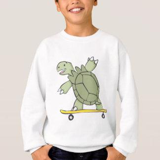 Glückliches Schildkröten-ReitSkate-Brett Sweatshirt