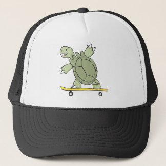 Glückliches Schildkröten-ReitSkate-Brett Truckerkappe