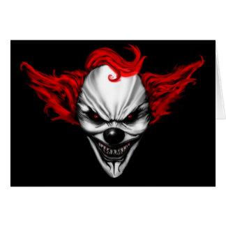 Glückliches schlechtes Clown-Rot-Haar Karte