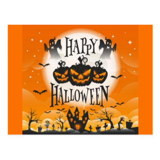 Glückliches Spuk Halloween Postkarte