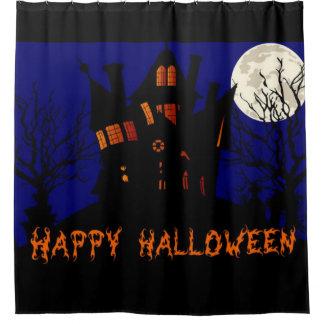 Glückliches Spuk Haus Halloweens Duschvorhang