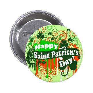 Glückliches St. Patricks Day Runder Button 5,1 Cm