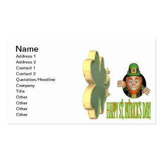 Glückliches St. Patricks Day Visitenkarten Vorlage